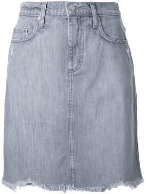 Джинсовая юбка Horizon Nobody Denim. Цвет: серый