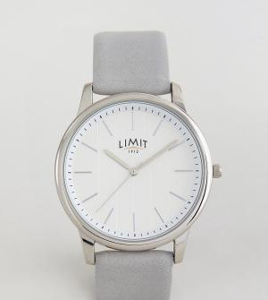 Limit Часы с серым кожаным ремешком и полосками на циферблате эксклюзи. Цвет: серый
