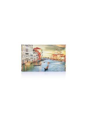 Визитница Венеция Eshemoda. Цвет: зеленый