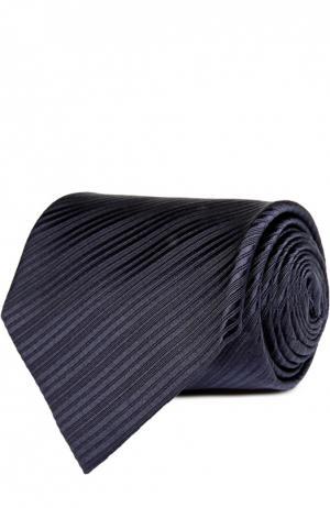 Шелковый фактурный галстук Tom Ford. Цвет: темно-синий