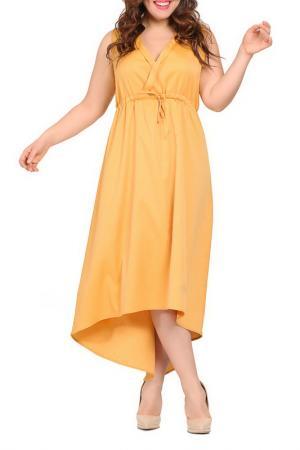 Платье VALERIA FRATTA. Цвет: dark yellow