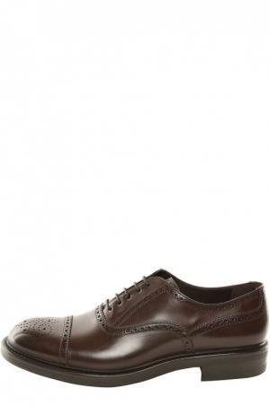 Туфли W.Gibbs. Цвет: темно-коричневый