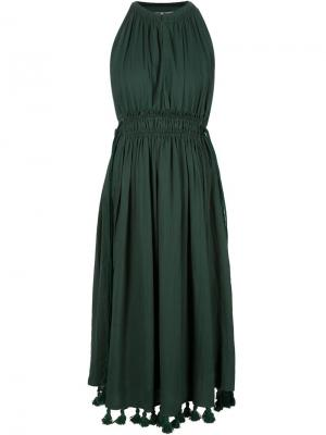 Платье с кисточками на подоле A Piece Apart. Цвет: зелёный