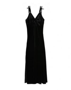 Длинное платье WEILI ZHENG. Цвет: черный