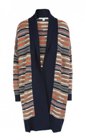 Удлиненный вязаный кардиган свободного кроя Diane Von Furstenberg. Цвет: разноцветный