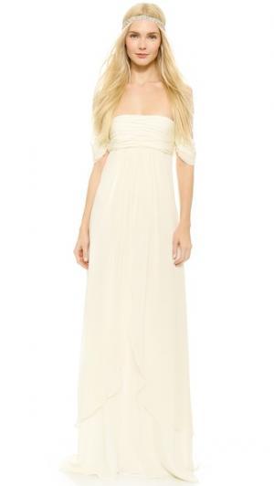 Elle Empire Petal Gown Rachel Zoe. Цвет: золотой