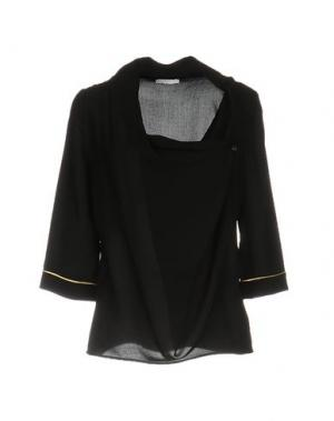 Блузка YES ZEE BY ESSENZA. Цвет: черный
