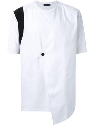 Футболка с деталью от пиджака Consistence. Цвет: белый