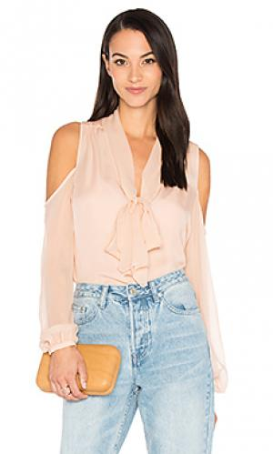 Блуза с открытыми плечами the vida Haute Hippie. Цвет: розовый