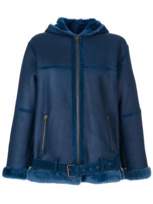 Куртка с капюшоном Giorgio Brato. Цвет: синий