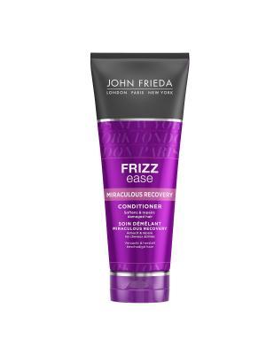 Кондиционер для интенсивного укрепления непослушных волос Frizz Ease Miraculous Recovery, 250 мл John Frieda. Цвет: белый