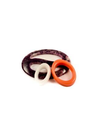Пряжка Волшебная пуговица Овал инь-ян и кольцо для шарфа madam Пряжкина. Цвет: сиреневый, белый, коралловый