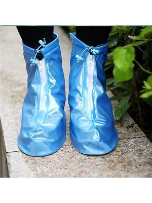 Дождевики для обуви на молнии, голубые, размер L Homsu. Цвет: голубой