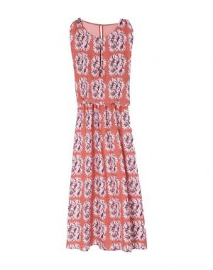 Платье длиной 3/4 ATTIC AND BARN. Цвет: кирпично-красный