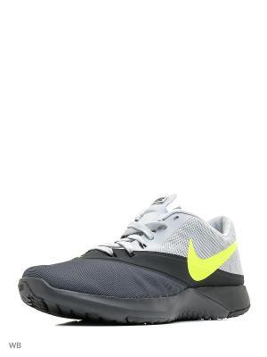 Кроссовки FS LITE TRAINER 4 Nike. Цвет: черный, салатовый, темно-серый