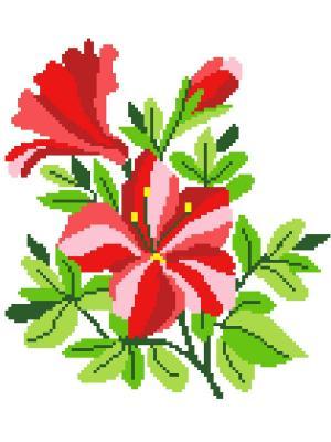 Набор 22х32 (рис/канв., мулине) NITEX. Цвет: красный, зеленый, розовый