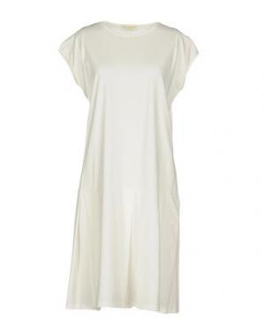 Платье до колена MA'RY'YA. Цвет: белый