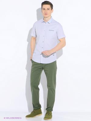Рубашка Delahaye. Цвет: светло-серый, белый