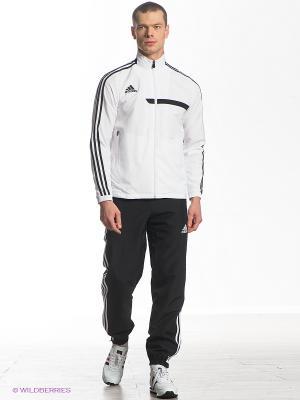 Спортивный костюм Adidas. Цвет: черный, белый