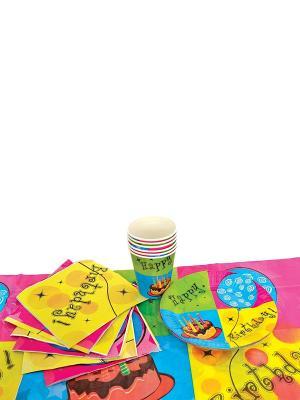 Набор для праздника С ДНЕМ РОЖДЕНИЯ! Action!. Цвет: зеленый, голубой, желтый