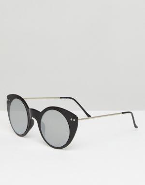 Spitfire Черные солнцезащитные очки кошачий глаз. Цвет: черный