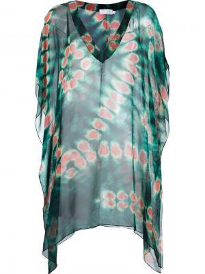 V-neck printed beach dress Brigitte. Цвет: зелёный
