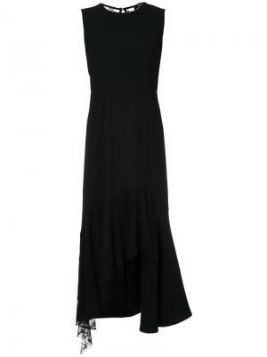 Асимметричное платье с оборками Goen.J. Цвет: чёрный