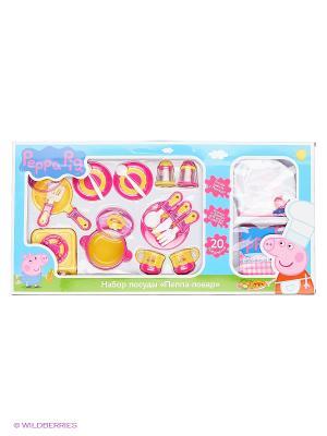 Набор посуды Пеппа-Повар20 предметов Peppa Pig. Цвет: розовый