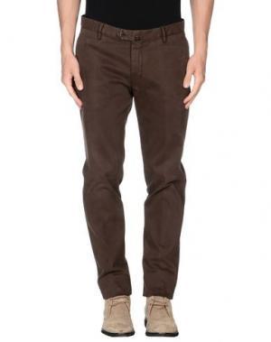 Повседневные брюки LUIGI BIANCHI MANTOVA. Цвет: какао