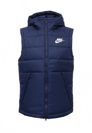 Жилет утепленный Nike. Цвет: синий