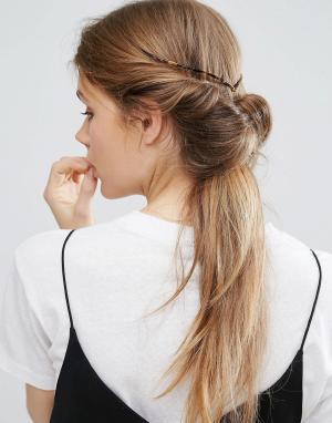 ASOS Украшение для волос ограниченной серии черепаховой расцветки. Цвет: коричневый
