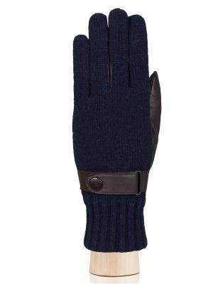 Перчатки Labbra. Цвет: синий, темно-коричневый