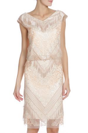 Вечернее платье с кисточками Caterina Leman. Цвет: светлыйрозовый 1122