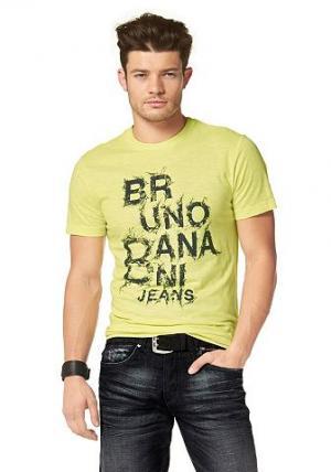 Футболка Bruno Banani. Цвет: цитрусовый