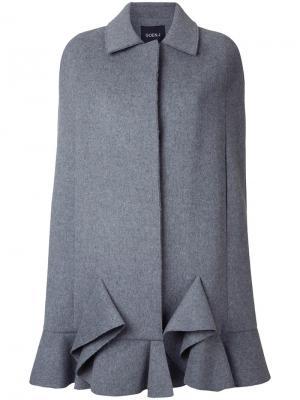 Однобортное пальто Goen.J. Цвет: серый