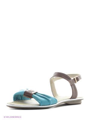 Босоножки Walrus. Цвет: коричневый, голубой