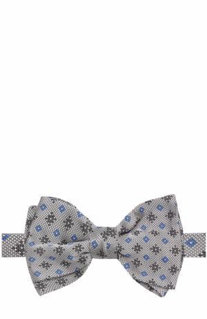 Шелковый галстук-бабочка Brioni. Цвет: серый