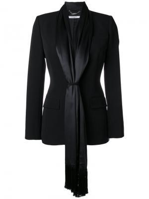 Приталенный блейзер с атласными завязками Givenchy. Цвет: чёрный