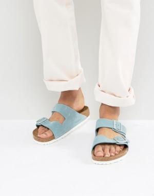 Birkenstock Замшевые сандалии Arizona. Цвет: синий