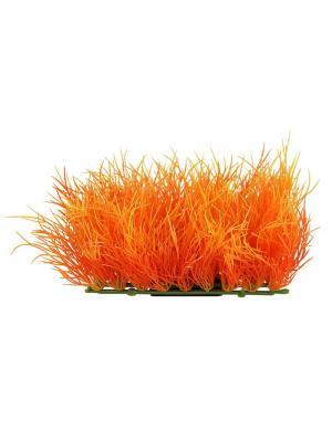 Растение для аквариума Коврик 9x5.5 см. LAGUNA. Цвет: зеленый, оранжевый