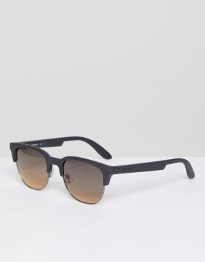 Carrera Солнцезащитные очки в квадратной оправе. Цвет: коричневый