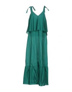 Длинное платье CARLA G.. Цвет: зеленый