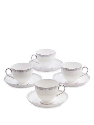 Чайный набор на 4 перс. Венецианская Классика (Venice Classic Pavone) Pavone. Цвет: белый