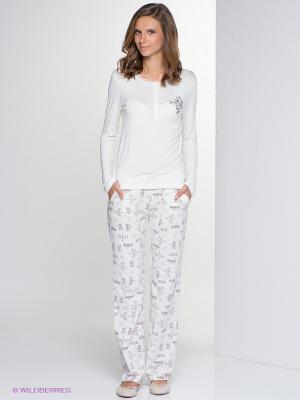 Комплект одежды HAYS. Цвет: молочный, коричневый