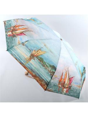 Зонт Zest. Цвет: бирюзовый, светло-желтый