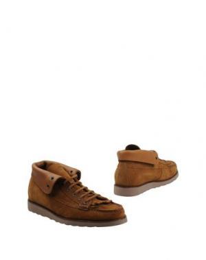 Полусапоги и высокие ботинки GEOX DESIGNED by PATRICK COX. Цвет: желто-коричневый