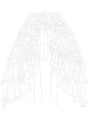 Трикотажная шаль Ann Demeulemeester. Цвет: белый