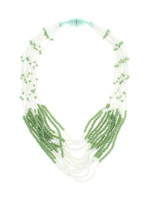 Колье Olere. Цвет: белый, зеленый