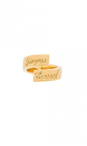 Кольцо fingers crossed Elizabeth and James. Цвет: металлический золотой