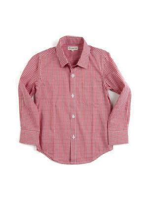 Рубашка Appaman. Цвет: красный, белый